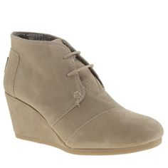If you're looking for a chic casual ankle boot with a little bit of height for autumn/winter, Toms might not be the first brand you think of, but the Desert Wedge proves they should be. Understated detailing, tab branding and a 7cm wedge finishes.                                    <br><br><ul><li>Suede upper</li><li>Fabric lining</li><li>Leather insole</li><li>Man-made sole unit</li><li>7cm wedge</li></ul>