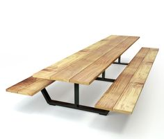 Classic table out of solid Iroko length 1,8-4,2 m