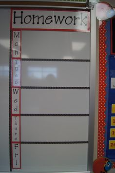 Use vinyl wall decals for heading and each subject (instead of days)