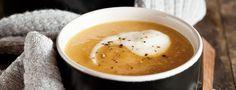 Velvety Sweet Potato Soup [recipe] Sweet Potato Soup, Lunch Ideas, Soup Recipes, Good Food, Goodies, Potatoes, Heart, Ethnic Recipes, Sweet Like Candy
