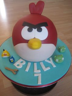 Giant Angry Bird Cake
