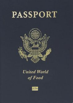 Dinner Party Idea--Food Passport. Love this. & inside it could say we're going to mexico for taco night!