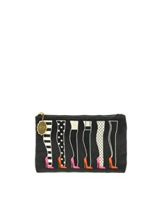 Lulu Guinness Legs Top Zip Pouch Bag
