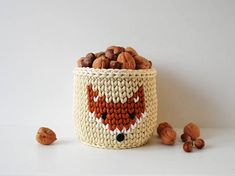 This cute crochet basket Fox is sturdy and keeps form well. Therefore, it is amazing to store various things: hair accessories, cosmetic, hygiene products, fruits, vegetables, small toys and etc. Also, it can be used as decorative flowerpot or big desk organizer. This basket will