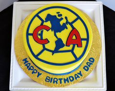 Club America Soccer Cake by by Simply Sweet Creations (www.simplysweetonline.com)