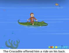 The Crocodile and The Monkey Moral Story with Pictures for Kids in English. English Stories For Kids, English Worksheets For Kids, Short Stories For Kids, English Story, Easy Cartoon Drawings, Easy Drawings, Kids Story Books, Children Stories, Republic Day Speech
