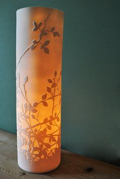 Ceramics by Amy Cooper at Studiopottery.co.uk - Hedgerow Lamp 2011.