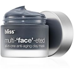 bliss Multi-'face'-eted All-In-One Anti-Aging Clay Mask (5260 RSD) ❤ liked on Polyvore featuring beauty products, skincare, face care, face masks, makeup, accessories, beauté, clay, mud mask and anti aging mask