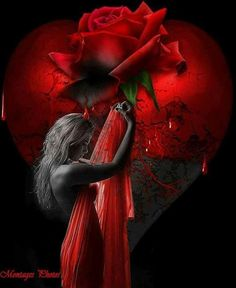 Tanya Edens updated her cover photo. Vampire Pictures, Rose Pictures, Fairy Pictures, Red Images, Love Images, Beautiful Dark Art, Beautiful Roses, Ying Y Yang, Totenkopf Tattoo