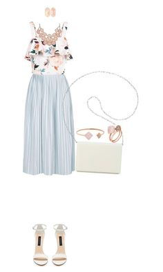 """""""Pale Blue"""" by judithaem ❤ liked on Polyvore featuring Topshop, New Look, Nine West, Kendra Scott and Michael Kors"""