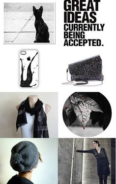 Black cat without the hat! - Monochrome Winter Fashion in Black
