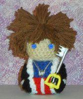 Handmade amigurumi doll based off the character Sora from the game Kingdom Hearts.