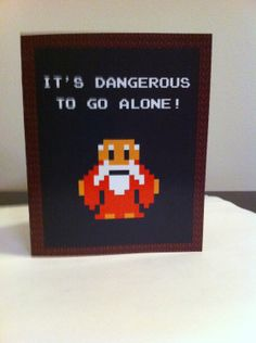 LoZ Card Template. $2.75, via Etsy. Click on the link to see the inside...adorably geeky :D