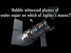 Hubble Trivia: 12) Hubble witnessed plumes of water vapor on which of Ju... Astronomy Facts, Astronomy Science, Space And Astronomy, Pbs Space Time, Great Red Spot, Eagle Nebula, Science And Technology News, Jupiter Moons, Neutron Star