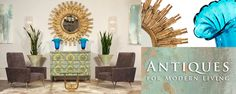 Jean-Marc Fray French Antiques for Modern Living - our latest vignette, full of Spring colors!