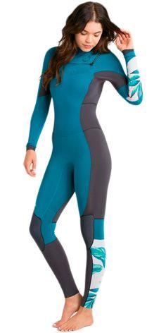 2017 Billabong Ladies Salty Dayz 4/3mm Chest Zip Wetsuit - MALDIVE Z44G04
