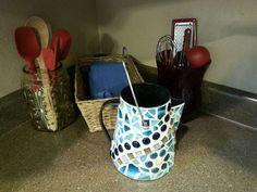 DIY.   Mosaic Coffee Pot