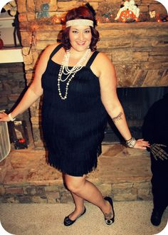 Plus size INC dress used for flapper costume