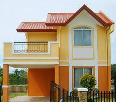 fachadas de casas color amarillo mango - Buscar con Google