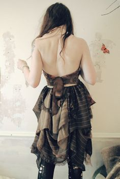 Etsy Transaction - Moth Dress backless in Earth tones