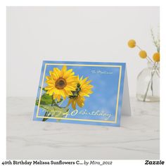 Shop Happy Retirement Wishes Sunflowers Elegant Card created by Personalize it with photos & text or purchase as is!