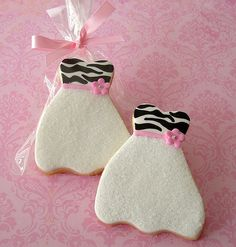 Zebra Print Dress cookie | por L&V sweets