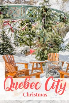 Do you want to feel like you are in a Hallmark Christmas movie? Well you will in Quebec City! The perfect Christmas vacation spot, close to New York City, close to Boston and tons of fun.