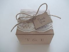 Wedding lace box  bridal favor box wedding favor box  DIY country chic will  you be my bridesmaid