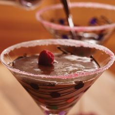 Contact me to book a online show or a cooking show at www.pamperedchef.biz/briannamutek  Chocolate-Raspberry Martinis - The Pampered Chef®