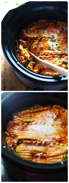 LOVE the sound of this Super Easy Skinny Veggie CrockPot Lasagna from Pinch of Yum; use a large oval slow cooker or the new Casserole Crock slow cooker for this recipe. [Featured on SlowCookerFromScratch.com]