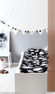 Scandinavian eclectic kids rooms via Styleroom