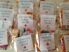 KITS ANTI-RESACA Wedding Survival Kits, 30th Party, 50th Birthday, Ideas Para, Diy, Crafts, Weddings, Amor, Guest Gifts