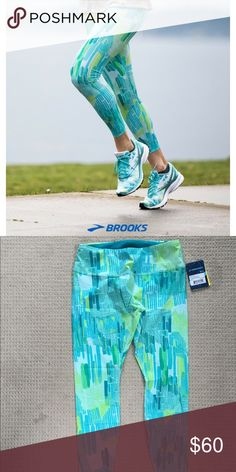 NWT Brooks Ghost Capri - Medium NWT Brooks Ghost Capri - size Medium. Limited Edition color way.   Weightless, second-skin fit, for women who want to run free.  Retail $90 Brooks Pants Leggings