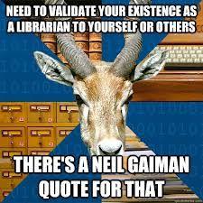 neil gaiman librarian rule - Google Search
