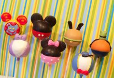 Mickey Mouse Clubhouse inspired cake pops by JamiesCakePops