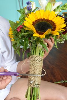 Make your own wildflower wedding bouquet!
