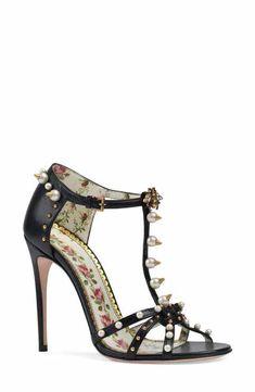 Gucci Regina Embellished T-Strap Sandal (Women) Buy Gucci 6b141f497967