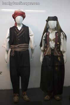 Serbian traditional costumes at Museum of Ethnology, Stari Grad.