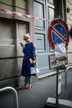 Street style at Milan Fashion Week Women's Spring 2018