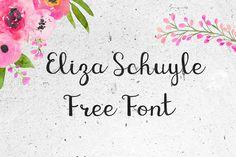 DLOLLEYS HELP: KG Eliza Schuyler Script Free Font