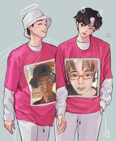 Namjin, Jikook, Bts Memes, Funny Memes, Vhope Fanart, Chibi, Bts And Exo, Bts Drawings, Yoongi