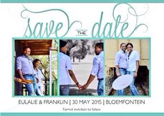 Save the date. Turquoise