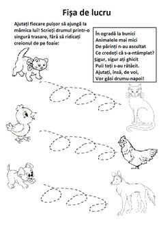 : Elemente premergătoare scrisului I Preschool Worksheets, Preschool Activities, Diy And Crafts, Crafts For Kids, Animal Crafts, Montessori, Kindergarten, Teacher, Children