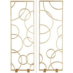 Brilliant against an expansive wall, this modern piece solves a variety of design issues. The rectangular iron panel is entirely finished with gold leaf and frames a geometric overlay of intersecting circles, which have a layered interplay with the mirror Diy Room Divider, Room Divider Screen, Room Screen, Brass Mirror, Floor Mirror, Oly Studio, Wall Design, House Design, Houses