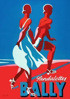 Bally Sandalettes  1935  http://www.vintagevenus.com.au/vintage/reprints/info/FAS204.htm