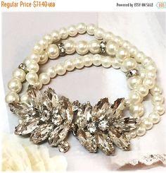 A personal favorite from my Etsy shop https://www.etsy.com/listing/237610855/bridal-bracelet-wedding-jewelrybridal