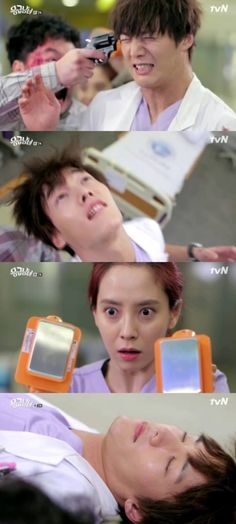 Emergency Couple...lol. I admit I never thought the whole shocking thing threw either. Good thing I watched this lmao