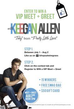 94 best keegan allen images on pinterest keegan allen toby register to win a vip meet greet with keegan allen and get his autograph m4hsunfo