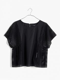 Eyelet Floatweave Top by Madewell