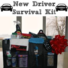 What do you buy for the 16 year old who has everything? Well, my nephew, Justin, is about to turn 16 and get his driver's license and my sister, Julie, gave me a great idea – make him a New Driver Survival Kit!! What is a New Driver Survival Kit – all of the essential …